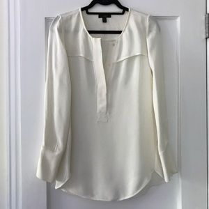 J.Crew cream silk blouse sz 4