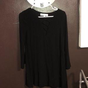 casual black Astr dress