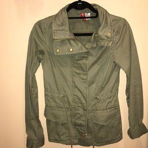 Olive h&m utility coat