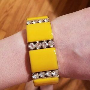 J. Crew Yellow Rhinestone Bracelet -NWOT!