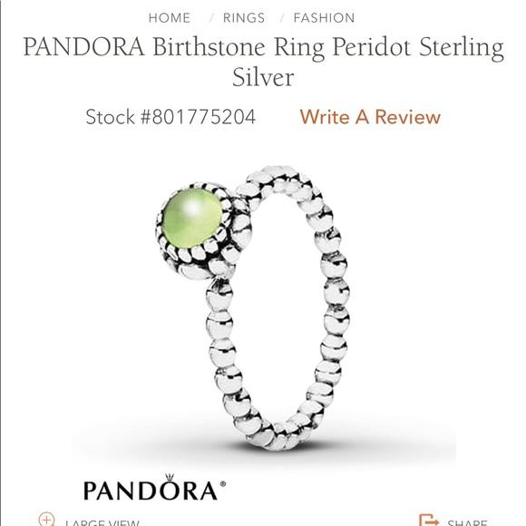 256f5491d3eb5 Pandora August Birthstone Ring
