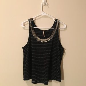 Free People Beaded and Embroidered tank size M
