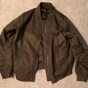 Trendy Olive Green Forever 21 Bomber Jacket