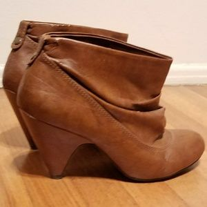 Zara Brown Leather Booties