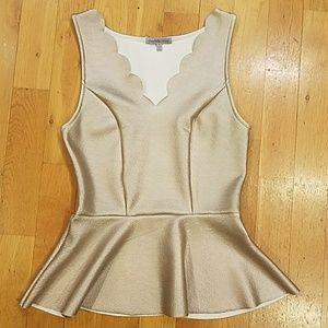 Charlotte Russe Faux Leather Peplum  (S)