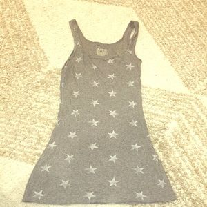 Mossimo Gray tank top with white stars