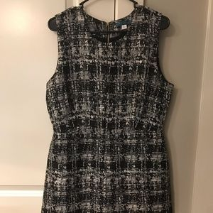 Black and White Marble Sleeveless Dress