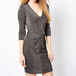 Ted Baker Lizzey Twist Front Dress in Black
