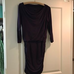 Theory fitted dark purple dress size P