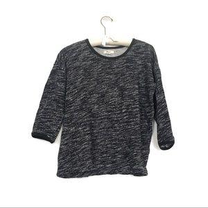 Madewell marled Cotton sweatshirt NWOT