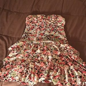 Express Small Strapless Flower Dress