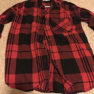Boyfriend fit button up shirt