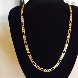 Other - 18k gold plated figaro chain necklace