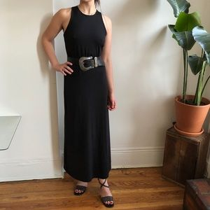 Vintage 90s Express Black Sleevless MaxiDress