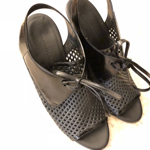 acdccb8f6d5 Balenciaga Shoes - Balenciaga black wedge sandals