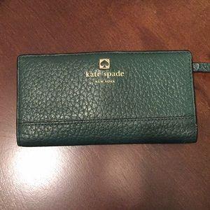 Kate Spade Dark Green Leather Wallet