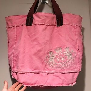Juicy Couture Pink Tote/Book Bag