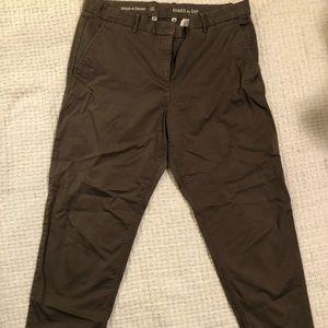 Khaki Straight Leg Pants by Gap
