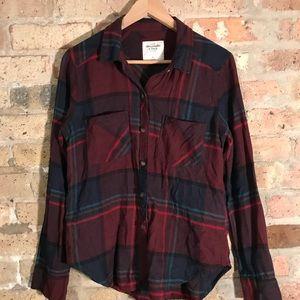 Abercrombie plaid tartan button down shirt