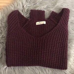 Hollister deep red/wine knit sweater