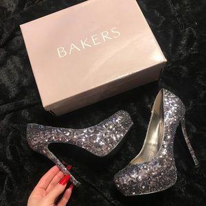 Bakers Sequin High Heels