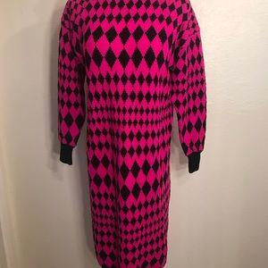 Vintage Dresses - Adorable 80's sweater dress