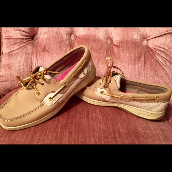 Nwot Sperry Koifish Gold Sparkle Boat