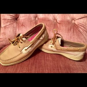 NWOT SPERRY Koifish Gold Sparkle Boat Shoe