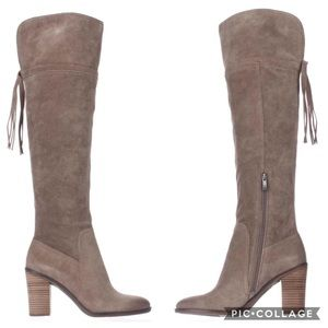 Franco Sarto Tassel Back Over the Knee Boots,