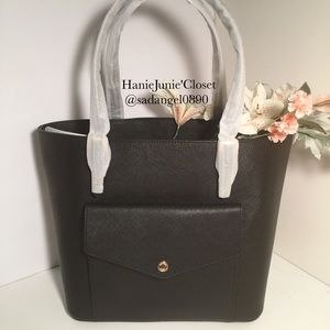 ♨️MICHAEL KORS LARGE POCKET BLACK TOTE