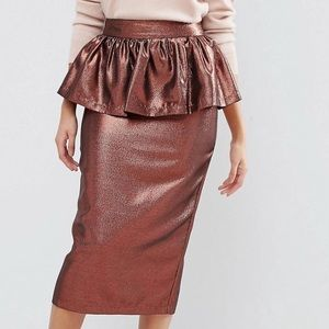 ASOS Rose Gold Holiday NYE skirt!!