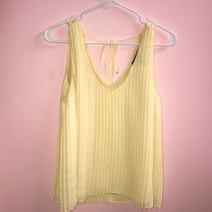 Tops - Yellow pleated vneck