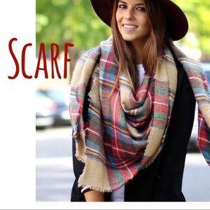 Zara blanket scarf -plaid