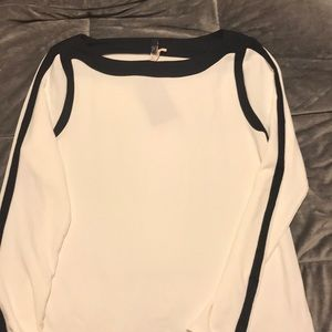 Limited cream and black top NWT