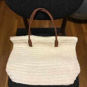 H&M White Straw Bag