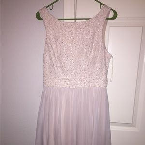champagne ish pinky dress