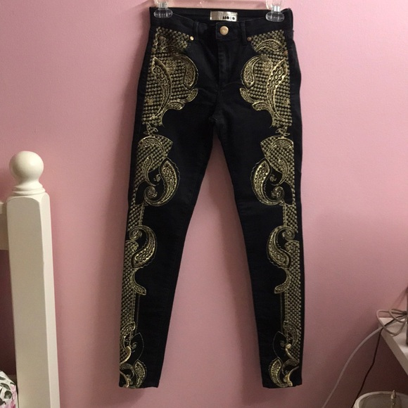 Topshop Denim - Topshop embo jeans