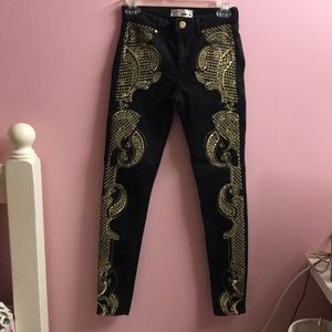Topshop embo jeans