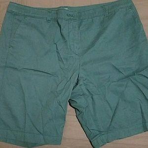 LOFT teal Bermuda shorts