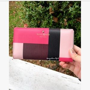 NWT Kate Spade Emma Lane Fabric Stacy Wallet