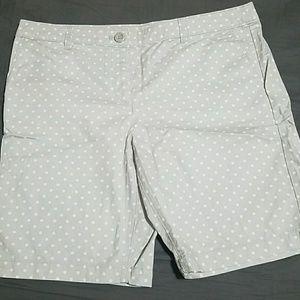 LOFT polka dot Bermuda shorts