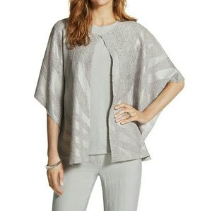 Chicos crushed jacket, fairfax gray in color