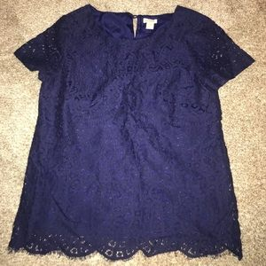 Lace Short Sleeved Shirt