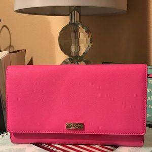 Kate Spade ♠️ Hot pink XL wallet