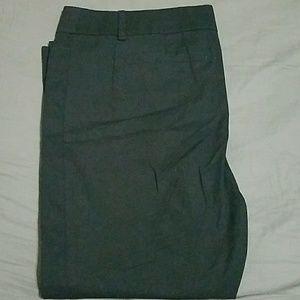 LOFT black original ankle pant