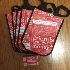 5 Lululemon shopping bags plus coin purse