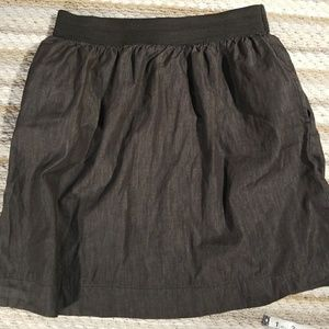 Cable and Gauge Sz M Elastic Waist Pockets Skirt