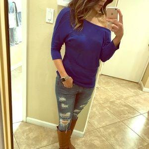 Cobalt Blue sweater top