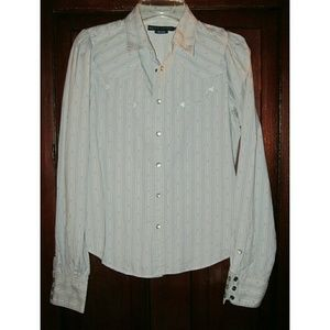 Ralph Lauren Blue Label 10 S Western Shirt Top