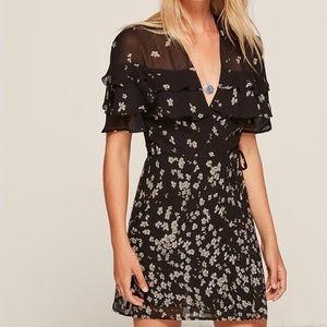 Reformation Black Juliana Oleander Dress Size XS
